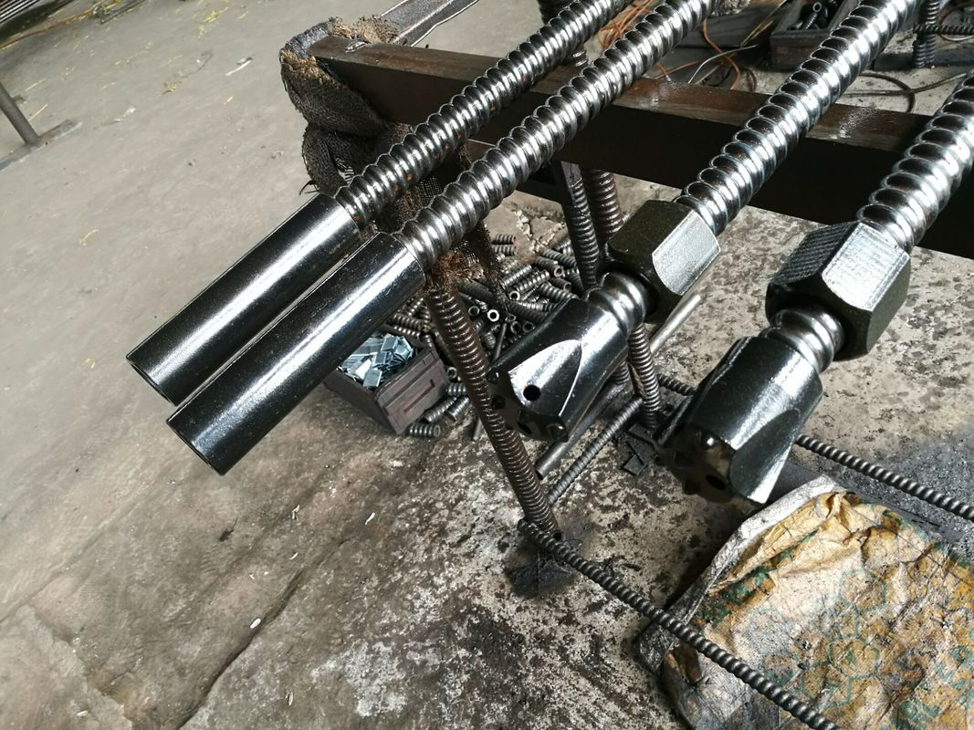 Hollow Grouting Self Drilling Anchor Bolt For Tunnel Slope Protection Project