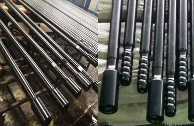 T38 T45 T51 Threaded Drill Rod MF Extension Drill Rod 400mm - 5530mm Length
