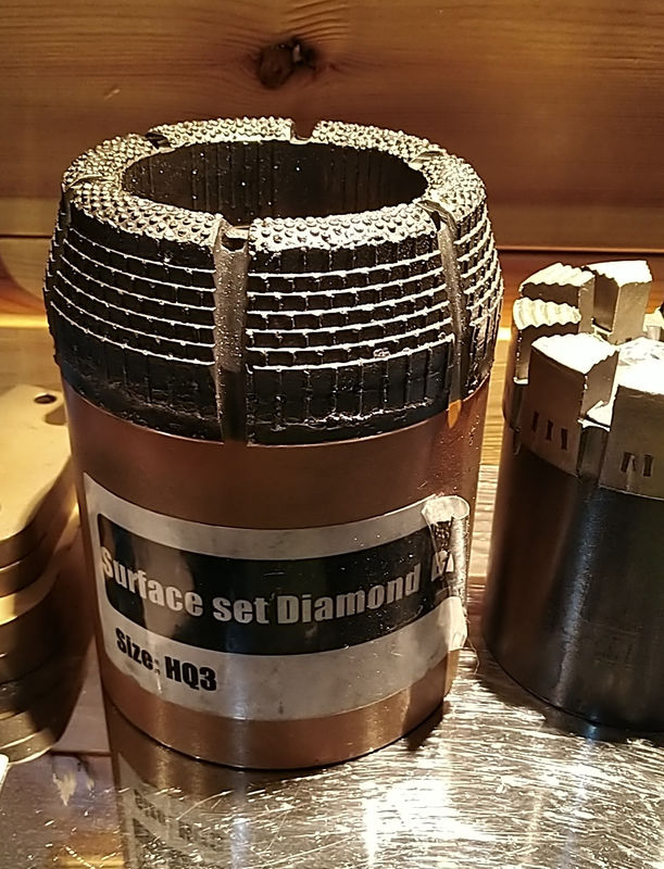 HQ Diamond Core Drill Bit Surface/Impregnated Set High Wear Resistance