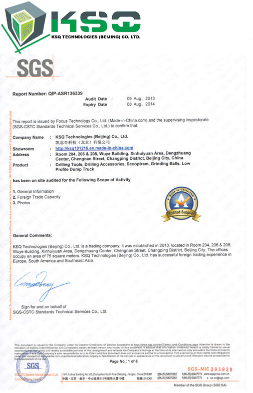Porcellana KSQ Technologies (Beijing) Co. Ltd Certificazioni